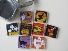 Glass Fridge Magnets  Halloween Decorations Set of 8 by DLRjewelry, $15.00
