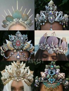Halloween mermaid crown …