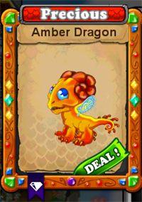 DragonVale Amber Dragon