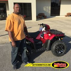 Thanks to Lashawn Murry from Pearl MS for getting a 2016 Polaris Sportsman SP 850. @HattiesburgCycles