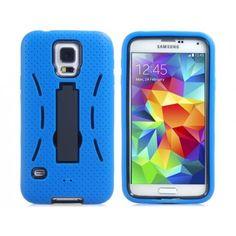 Rugged Self Stand Blue Samsung Galaxy S5 Case
