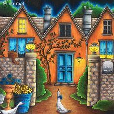 The Manor House from #romanticcountry I'm in love with this book!! #romanticcountrycoloringbook #eriy #adultcoloringbook #bayan_boyan #coloring_secrets #boracolorirtop #artecomoterapia #divasdasartes #prazeremcolorir #desenhoscolorir #arte_e_colorir #adultcoloringforum #wonderfulcoloring #coloringmasterpiece