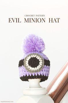 Ravelry afrsss crazy minion hat headwear pinterest minion newborn evil minion inspired hat crochet free pattern dt1010fo
