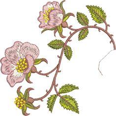 Sue Box Creations | Download Embroidery Designs | 15 - Briar Border 2