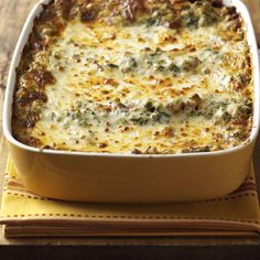 Argentine Lasagna Recipe -My family is from Argentina, which has a strong Italian heritage and large cattle ranches. This all-in-one lasagna is packed with meat, cheese and veggies. —Sylvia Maenenr, Omaha, Nebraska