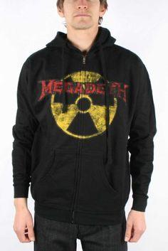 Megadeth – Megadeth Zip Hoodie Guys Hoodie In Black - http://bandshirts.org/product/megadeth-megadeth-zip-hoodie-guys-hoodie-in-black/