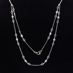 2.13tcw Diamonds By The Yard Necklace With Sapphires and Diamonds #DiamondsByAl #DiamondsByTheYard