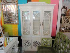 Hollywood Regency Style Fretwork PAGODA Cabinet my favorite