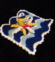 Sailor Octopus Lovey Cuddle Blanket Instant by LuluBebeblu on Etsy