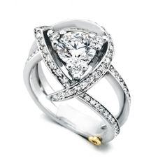 Mark Schneider Luxury 1.66cttw freeform diamond engagement ring from Mullen Jewelers