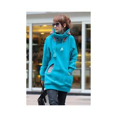 Korean Thicken Solid Color Thicken Hooded Long Sleeves Women s Hoody ($22) ❤ liked on Polyvore featuring tops, hoodies, blue, long sleeve hooded sweatshirt, hoodie top, blue hoodies, long sleeve hoodies и long sleeve tops