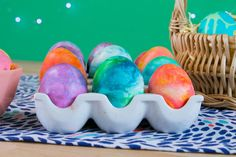 How to Create Marbled Easter Eggs With Shaving Cream