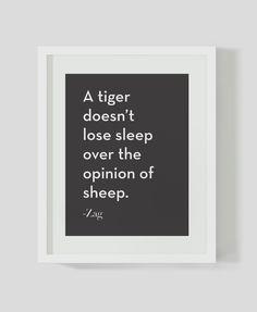 Tiger and Sheep- Premium Art Print. $8.00, via Etsy.
