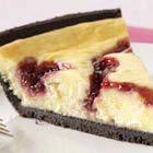 PHILADELPHIA® 3-STEP® White Chocolate Raspberry Swirl Cheesecake