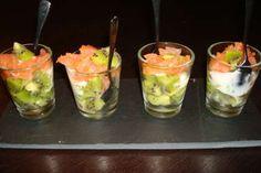 Verrine saumon kiwi