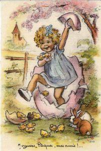 ...★★★... carte postale Images Vintage, Vintage Artwork, Vintage Pictures, Vintage Cards, Vintage Illustrations, Picture Postcards, Old Postcards, Easter Art, Vintage Paper Dolls
