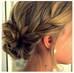 Updo hairstyle- bridesmaid cute for jess's