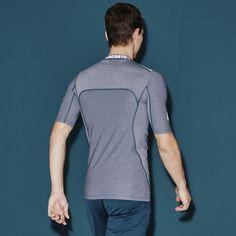 Camiseta gola careca Lacoste SPORT de jersey stretch