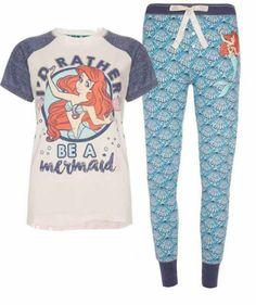 Primark Ariel Little Mermaid Princess Finding Nemo Dory Disney PJ's Pyjamas Set Pijama Disney, Disney Pajamas, Cute Pajamas, Pajamas Women, Ladies Pyjamas, Primark Pyjamas, Primark T Shirts, Cotton Pyjamas, Lazy Day Outfits