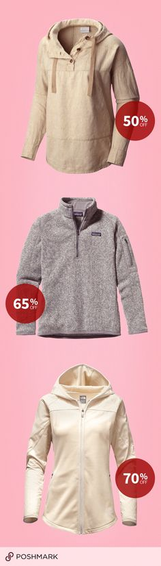 Spruce up your fall and winter wear and save up to 70% off! Shop and Sell North Face, Patagonia, and Columbia! Install Poshmark for free and shop now!