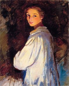 art & favourites - Zinaida Serebriakova (Russia) - self portrait - beautiful glowing perfection/ I love how the light plays on her face.