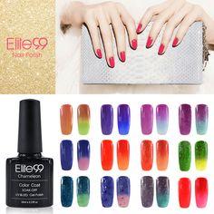 Elite99 Changing Color Chameleon Soak Off gel Polish 10ml Chameloen Gel Top Base Coating Temperature Change Gel Lacquer Pick 1