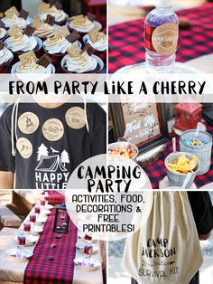 Camping Party: Ideas & Printables - Party Like a Cherry