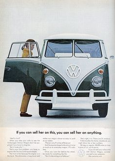 Awesome old 1960s Vintage Volkswagen Bus ad
