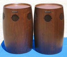 Speakers that look like bongos... A product of the 70's, most def.
