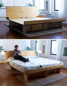 modular eco plywood bed