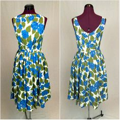 Vintage Classic 50s Sleeveless Dress in by ArchiveVintageHaus, $86.00