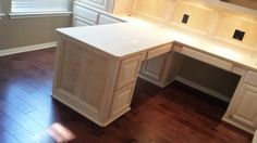 Custom, t-shape computer desk, remodeling, home office, woodwork, woodworking, remodel, lighting, cabinets, Spring, The Woodlands, Houston, Conroe, Tomball, Magnolia, Kingwood, Humble, Sugarland, Texas, tx Custom-wood-creations.com CWCbyJohn@gmail.com