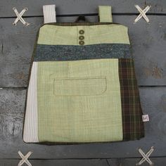 """Stylish upcycled backpack from """"Eating The Goober"""""""