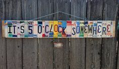 Recycled. License Plate. Room Decor. Sign. Wall by 1BentKeepsake, $144.00