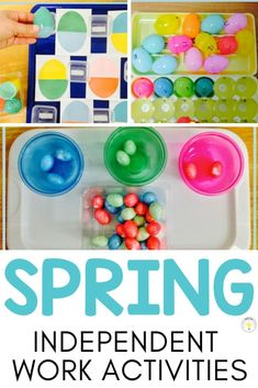 Spring math and literacy independent work activities for the special education classroom. These activities for kids are perfect for independent work, reading and math centers in preschool or kindergarten! #springlearning #springactivities