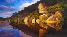 Whale Rock at Tidal River, Wilsons Promontory National Park, Victoria ...