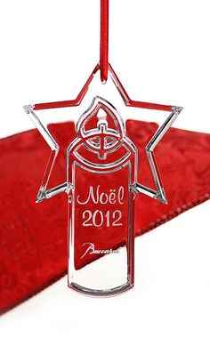 Baccarat Annual Ornament 2012~Eric gets me the Baccarat every year since we have been together for Christmas!