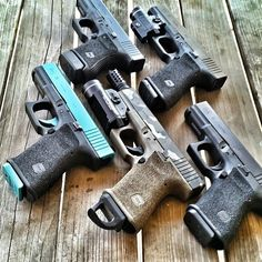 Picking glocks should be like picking an outfit for the day. Which one to use... (posted by @tgsarms) #glockfanatics #glockporn #glockmods #glockperfection