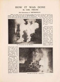 Recovered 1927 Metropolis Film Program Goes Behind the Scenes of a Sci-Fi Masterpiece Metropolis Film, Metropolis Fritz Lang, Old Movies, Vintage Movies, Fritz Lang Film, Metropolis Magazine, Film Base, The Best Films, Film Books