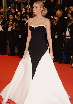 Blake Lively and Ryan Reynolds match in black and white at Cannes premiere | Mail Online