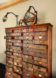 Old patent file from 1800's. Photo by JE Evans. Story: Eco Savvy Style, www.housetrends.com