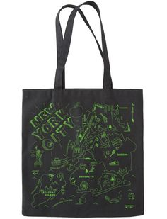 I have a similar tote showing the neighborhoods of Manhattan.  Love this bag!