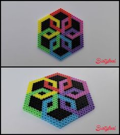 Coaster -- perler beads by Biotyfool