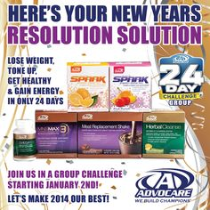 Here's Your New Years Resolution Solution - Advocare 24-day challenge