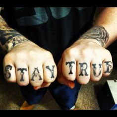 Like knuckle tattoos but don't have any