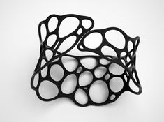 BRACELET Voronoi III 3d printed Jewelry Bracelets