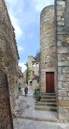 Pals, Spain, the whole place is like this, up and down steps, beautiful