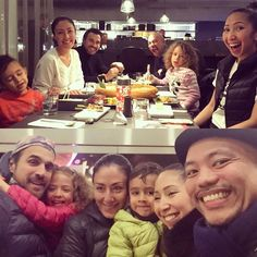 Thanks you guys for driving all the way to our 'hood so we could hang out tonight!  #familydinner #friday #sushi #canarywharf #london by mayoandrade