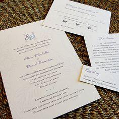 Soft & Subtle Floral Monogram Custom Color Wedding Invitation Set