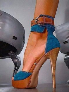 Blue Platform Sandals Denim Ankle Strap High Heels Shoes for Night Club Today Only! Blue Platform Sandals Denim Ankle Strap High Heels Shoes for Night Club Stilettos, Schnür Heels, Ankle Strap High Heels, Sexy Heels, High Heel Pumps, Strap Heels, Stiletto Heels, Blue Heels, Denim Heels